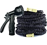 Lucn 2020 Upgrade 75FT Retractable Expandable Magic Garden Hose Pipe&Spray Gun w/Brass Fittings