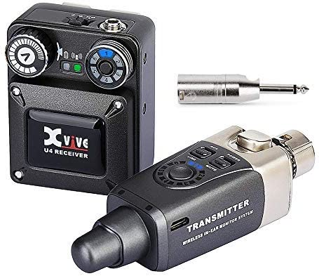 Xvive U4 Wireless in Ear Monitor System Transmitter and Beltpack Receiver Personal IEM for Studio product image