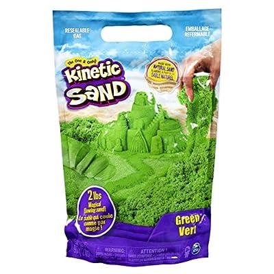 Kinetic Sand The Original Moldable Sensory Play Sand, Green, 2 Lb