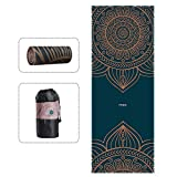Hot Yoga Towel Exclusive Corner Pocket Printed Microfiber Towel for Hot Yoga Bikram Ashtanga and Pilates Free Carry Bag 185*68CM