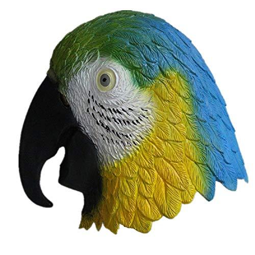 Hengyutoy Mask Mscara de ltex Tropical para Loro, diseo de pjaros arcoris, Unisex, Talla nica de