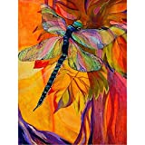 Jigsaw Puzzle 1000 Piece Wooden Puzzle Color Dragonfly Family Decorations, Unique Birthday Present Suitable for Teenagers and Adults 29.5x20in