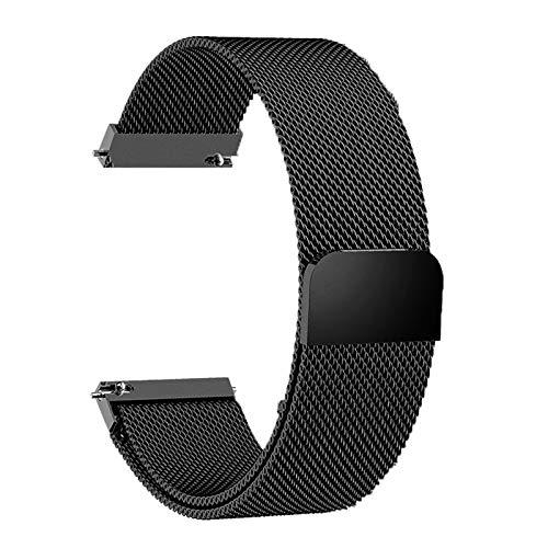 FJXJLKQS Correa de Reloj Correa de Reloj de Repuesto de Malla de Acero Inoxidable Ajustable Accesorios de Muñeca Correas de Reloj de Liberación Rápida para Mujeres y Hombres,C-22mm