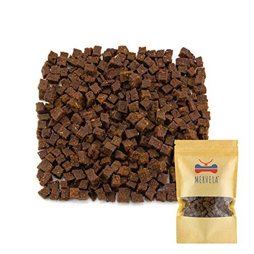MERVELA Trainingssnacks Putenfleisch, 300 Gramm, ideale Belohnung für Hunde; Snacks beim Training für Hunde (Putenfleisch Trainingssnack)