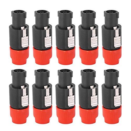 10PCS Audio Speaker Connector C-NL4FC Speakon Plug Cable Connector Waterproof 4 Pin...