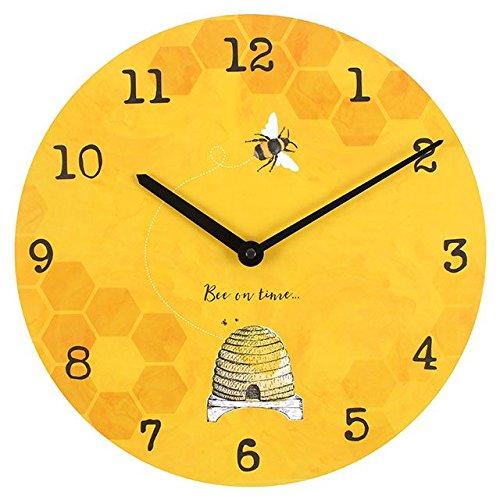 Brown & Ginger Reloj de pared Bee On Time de 34cm Bee Bright Warm Sunshine Amarillo