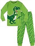 MOMBEBE COSLAND Pijama de Manga Larga para Niños Dinosaurio (3 años, Verde)