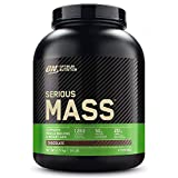 Optimum nutrition on serious mass proteina en polvo mass gainer alto en proteína, con vitaminas, creatina y glutamina, chocolate, 8 porciones, 2. 73 kg, embalaje puede variar