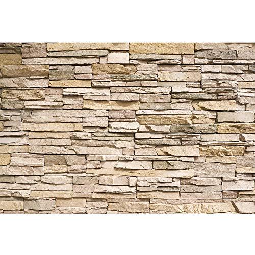 GREAT ART Mural De Pared – Tapiz De Foto Óptica De Piedras – Mural Decoración Tapices De Piedras Muro Pizarra Arenisca Muro De Piedras Stonewall (210x140 Cm)