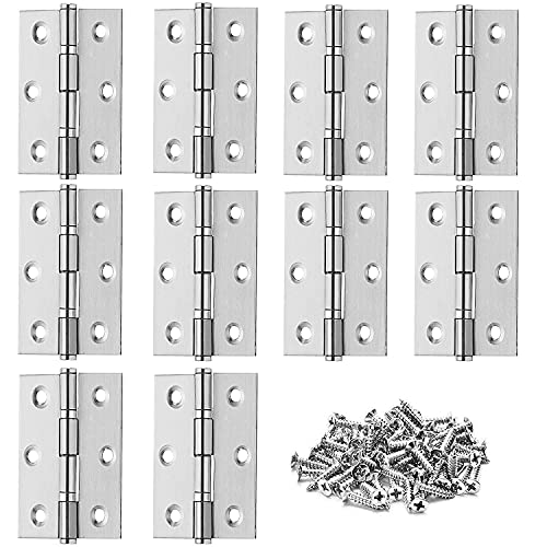 10 Pièces charniere porte, Charniere inox,Charnière invisible,Porte placard/Petites portes / Tiroirs / Fenêtres / Pianos / Coffret à bijoux armoires de quincaillerie de meubles de maison