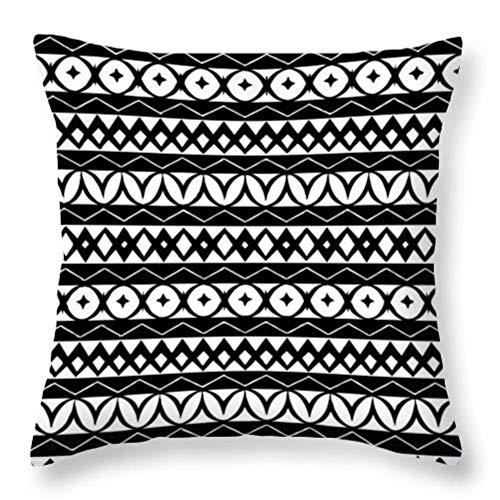 Simple Black White Geometry Cushion Case Hot Modern Nordic Decorative Pillows Case Livingroom Sofa Couch Throw Pillows-Black-w-003,45X45CM-pillow cover
