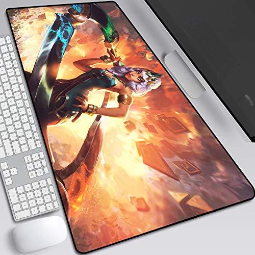 CSQHCZS-SBD Grote gaming-muismat, gaming muismat voor de muis, met een glad oppervlak, grote afmetingen, bureau-onderlegger, exacte positionering, mooie rand, PC en laptop A+++++ +