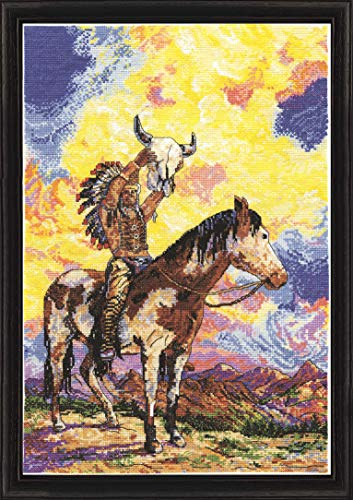 Design Works Crafts Native American Sunset, 12 x 18 Counted Cross Stitch Kit, Multi-colour