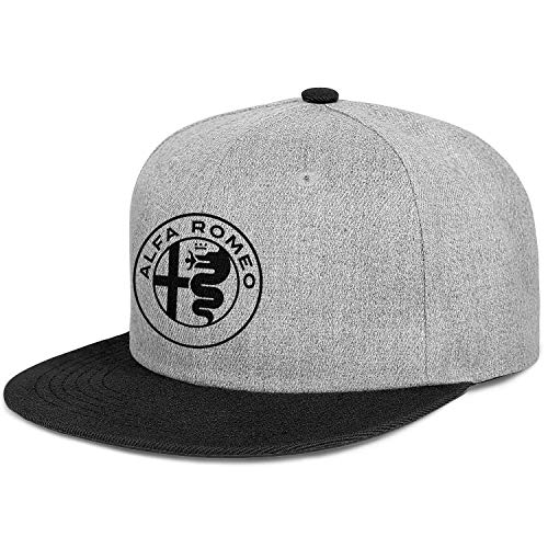 Dad Hat Alfa-Romeo-Logo- Todo algodn Snapback Casual Hip Hop Gorras