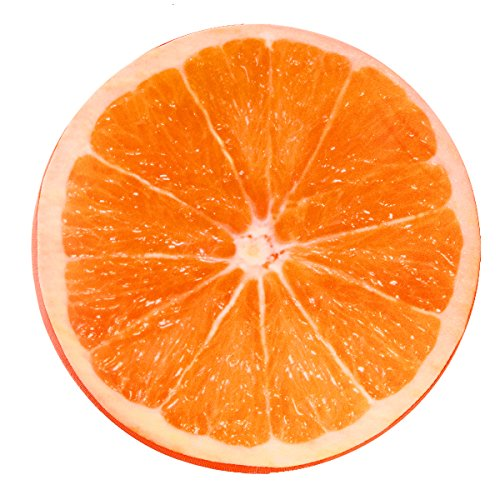 Winbang Kissen Kissen Kissen Weichkissen Plüsch Zitrone Obst Sitzkissen Rückenkissen Rund Orange
