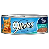 9Lives Meaty Paté With Real Chicken & Tuna Wet Cat Food, 4/5.5-Ounce Cans (Pack Of 6)
