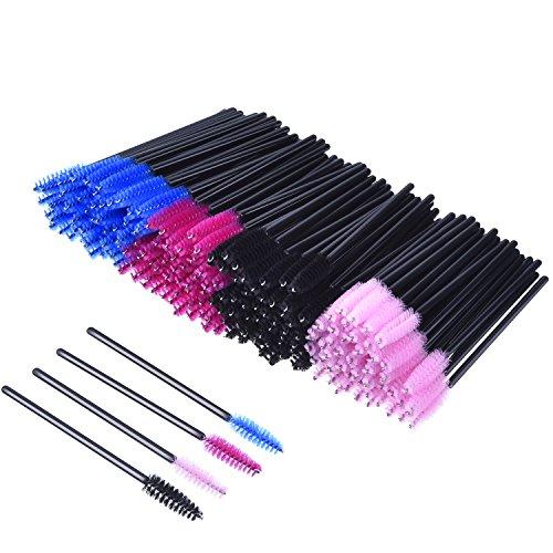 Desechables Cepillos de Pestañas de Varitas Rímel Kit de Maquillaje Pinceles Aplicadores, Multicolor, 200 Piezas