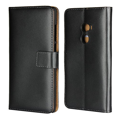 Copmob Kompatibel mit Xiaomi Mi Mix 2 Hülle Handyhülle Mi Mix 2 [Premium Leder] [Standfunktion] [Kartenfach] [Magnetverschluss] Schlanke Leder Brieftasche für Mi Mix 2 Schwarz