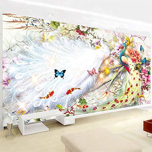 Nicole Knupfer 5D Diamant Malerei, DIY Diamond Painting Pfau Kristall Strass Stickerei Bilder für Home Wand-Decor...