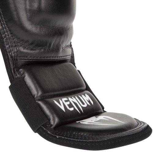 Venum 360 MMA Shinguards, Black, Large