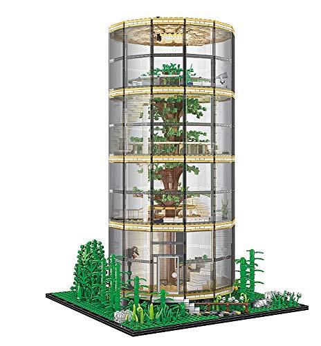 Bausteine Haus Baumhaus mit Beleuchtung, 4 Stockwerke, Modular Building, 3495 Klemmbausteine