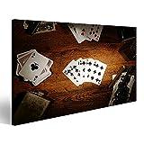 islandburner Bild Bilder auf Leinwand Poker Kartenspiel Casino Poster, Leinwandbild, Wandbilder