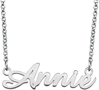EV.YI Jewels Name Necklae Personalized Customize Your Nameplate Gift for Mom Women
