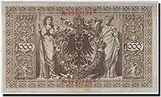 1910 DE GIANT 1910 GERMAN EMPIRE 1000 MARKS! HIGHEST PRE-1922 DENOM! TEXTURED PAPER 10000 Marks Crisp Very Fine