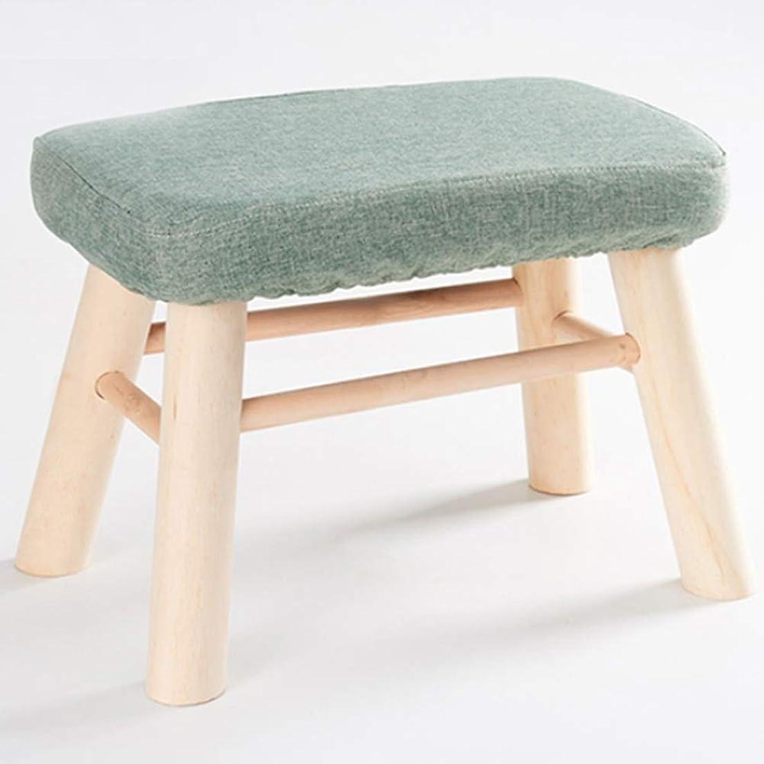 くつろぎ自治ブローYXINY ソリッドウッド製スツール 長方形の靴ベンチ ホーム生地の小さな椅子 リビングルームのソファベンチ クリエイティブ小さなベンチ (Color : Navy)