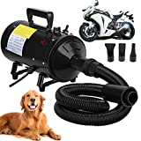 Motorcycle Power Dryer, Portable Car Dryer,Bike Dryer Blower&Blaster,Vechicle Dryer and Duster for Detailing,Pet Dog Grooming Dryer- Dry and Dust Inaccessible Areas with High Pressure Air Flow