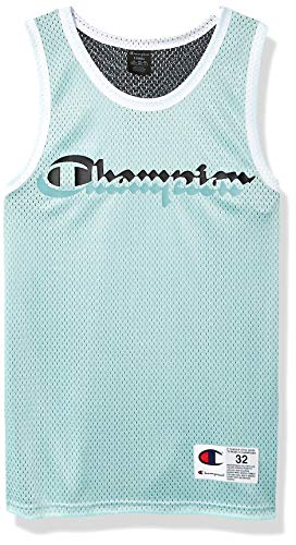 Champion LIFE Men's Reversible Mesh Tank Top, Waterfall Green/Black, Large