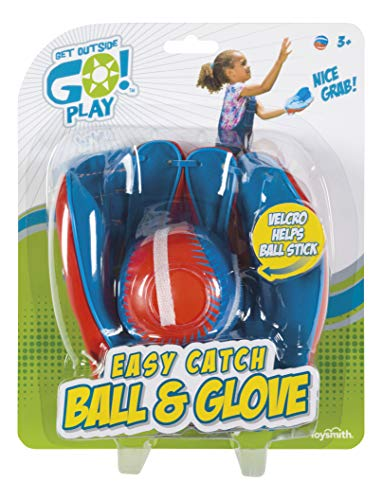 Get Outside Go! Easy Catch Ball & Glove Set Super Sport Outdoor Active Play Baseball by Toysmith...
