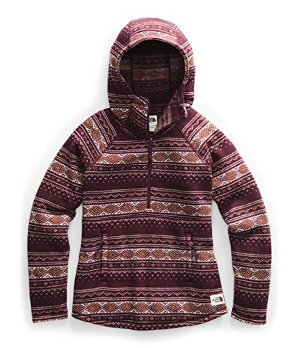 The North Face Women's Printed Crescent Hooded Pullover, Deep Garnet Red Fair Isle Print, L