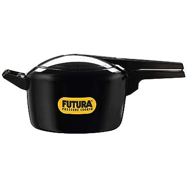 HAWKINS Futura Hard Anodised Pressure Cooker, 5 L, Black