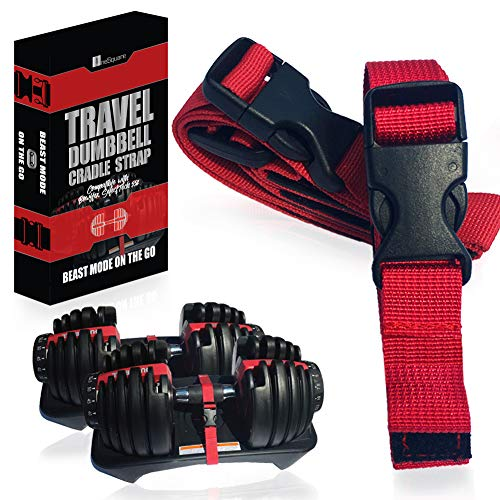 Transport Travel Straps for Dumbbells – Only Compatible with Bowflex SelectTech 552 Adjustable Dumbbells with Fitness Dial - Cradle Base to Dumbbell – Carry and Storage