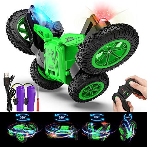joylink RC Stunt Auto, 4WD 2,4 GHz Ferngesteuertes Auto Radio Ferngesteuerter Buggy Auto 360 ° Flip Speed Spielzeugauto mit LED-Licht für Kinder über 6 Jahre