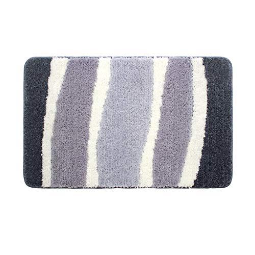 Best Prices! CarPet Indoor Entrance Bedroom Door mats Absorbent Bathroom mats Grey (Size : 40X80cm)