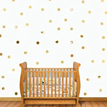 AQRICHFOX Gold Bling-Bling Circle Dots 2cm 200pcs Removable Acrylic Mirror Wall Stickers DIY 3D Wall Decals for Children's Room Ceiling Bedroom Decoration Home Decor