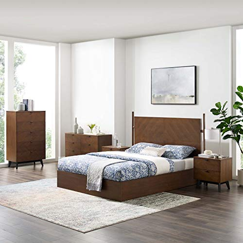 Great Price! Modway Kali 5-Piece Bedroom Set, Walnut