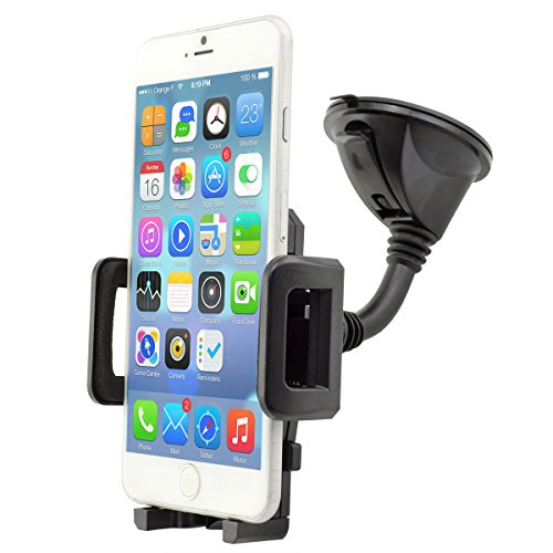 in Car Phone Mount, Universal Flexible Windscreen Car Phone Holder Grip for for iPhone Xs Max/Xs/Xr/X/8/7/6s Plus, Samsung S10/S9 Note LG and Others