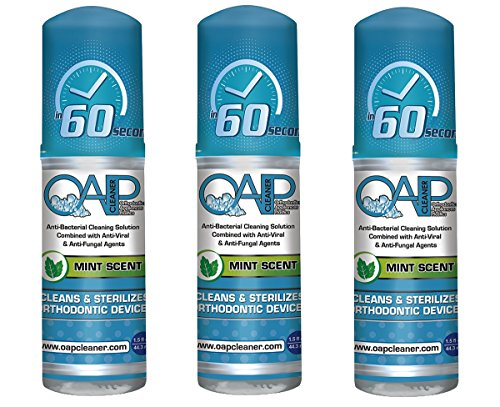 OAP Cleaner -Cleaner for Removeable Dental and Ortho Appliances - Foam, Mint Scent - 44.3ml (3 Bottles)