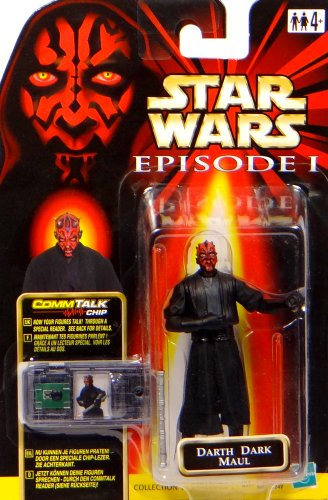 Hasbro Darth Maul Sith Lord + Commtalk Chip Star Wars Episode I The Phantom Menace