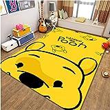 Xuejing Carpet Rectangular Living Room Bedroom Bedside Cartoon Anime Winnie The Pooh Sofa Cloakroom Kids Game Rug Home Decoration Floor Personality Anti-Skid