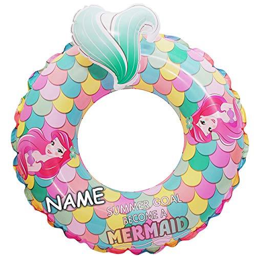 alles-meine.de GmbH 3D Effekt - Schwimmring - aufblasbar - Disney - Princess Arielle / Meerjungfrau - inkl. Name - 1 bis 6 Jahre - Schwimmreifen & Schwimmhilfe - für Mädchen - Ki..