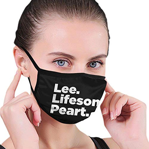 KDYBK MASK Lee Lifeson Peart Face Mouth Mask with Elastic Ear Loop Washable Face Cover Balaclave Black One Size