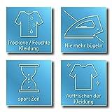 CLEANmaxx automatischer Hemdenbügler mit Dampffunktion Version 2019 | Bügler für Hemden & Blusen, Bügelautomat | Bügelpuppe mit zwei Bügelprogrammen [1800 Watt/weiß] - 6
