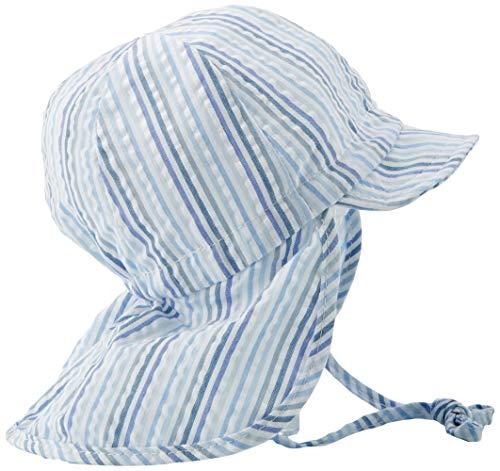 Döll Baby-Jungen Bindemütze mit Schirm und Nackenschutz Sonnenhut, Blau (Heather|Blue 3090), 47