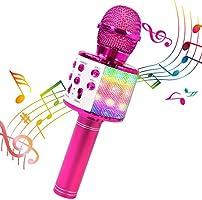 ShinePick Micrófono Karaoke Bluetooth, Microfono Inalámbrico Karaoke Portátil con Altavoz para Niños Canta Partido...