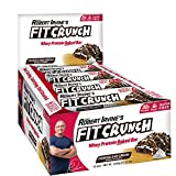 Chef Robert Irvine's FITCRUNCH Protein Bars, Full Size Protein Bars, Gluten Free Baked Bar (12 Count, Cookies & Cream)