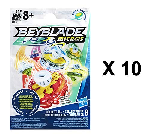 BEYBLADE Micros Series 2 - Pack 10 bolsas fiesta